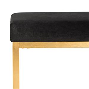 Safavieh Rowan Contemporary 20.00-in x 21.00-in Black Velvet Ottoman