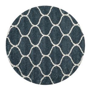 Hudson Shag Slate Blue and Ivory Area Rug