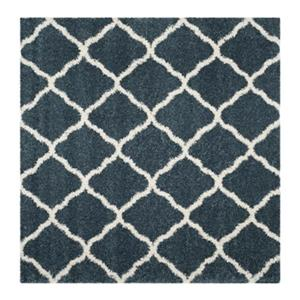 Hudson Shag Slate Blue and Ivory Area Rug