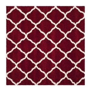 Hudson Shag Red and Ivory Area Rug