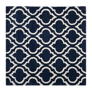 Hudson Shag Navy and Ivory Area Rug