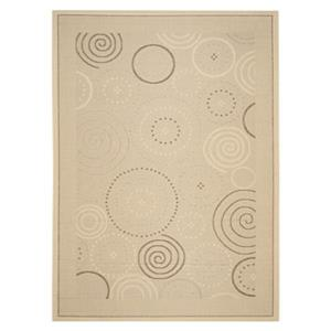 Safavieh Courtyard 8-ft x 11-ft Brown/Cream Floral Indoor/Outdoor Area Rug