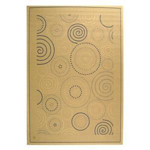 Safavieh Courtyard 8-ft x 11-ft Cream/Gold Geometric Indoor/Outdoor Area Rug