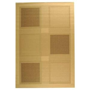Courtyard Natural and Brown Area Rug