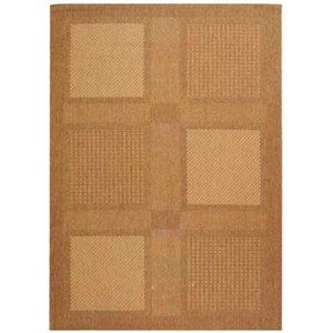 Safavieh Courtyard 8-ft x 11-ft Brown Block Indoor/Outdoor Area Rug