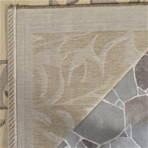 Safavieh Courtyard Off-White Floral Cream 132-in x 94-in Indoor/Outdoor Area Rug