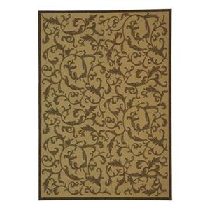 Courtyard Area Rug, Natural / Brown
