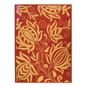 Courtyard Area Rug, Red / Natural
