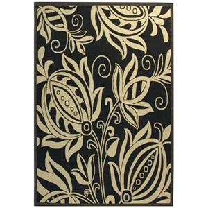 Courtyard Area Rug, Black / Sand