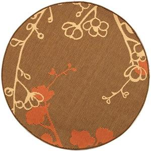 Courtyard Indoor/Outdoor Area Rug, Brown/Natural/Terracotta