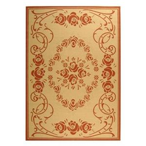 Safavieh CY1893-3201 Courtyard Indoor/Outdoor Area Rug, Natu