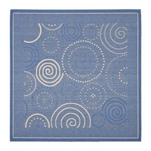 Safavieh CY1906-3103 Courtyard Area Rug, Blue / Natural,CY19