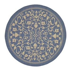 Courtyard Area Rug, Blue / Natural