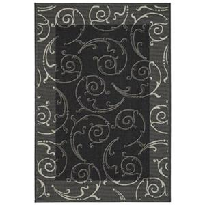 Safavieh Courtyard 11 ft x 8 ft Black Indoor/Outdoor Area Rug