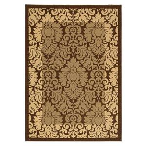 Safavieh Courtyard 11 ft x8 ft Brown Indoor/Outdoor Area Rug