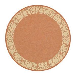 Courtyard Indoor/Outdoor Area Rug, Terracotta