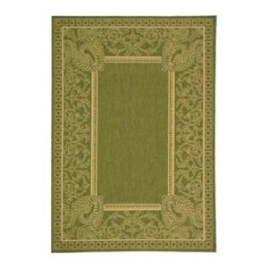 Safavieh Courtyard 11 ft x 8 ft Green Area Rug