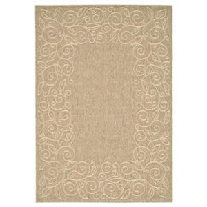 Safavieh Courtyard 11 ft x 8 ft Brown and Cream Indoor/Outdoor Area Rug