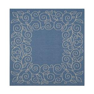 Courtyard Blue and Beige Area Rug