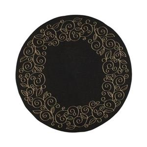 Safavieh Courtyard 11 ft x 8 ft Black and Beige Area Rug