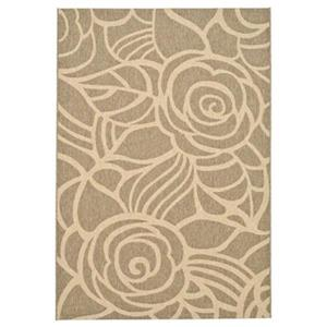 Safavieh Courtyard 11 ft x 8 ft  Coffee and Sand Area Rug