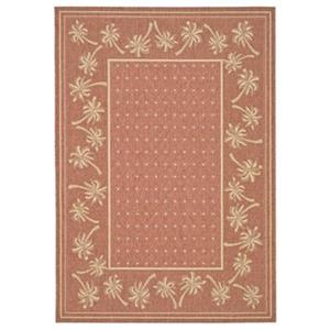 Courtyard Indoor/Outdoor Area Rug, Rust