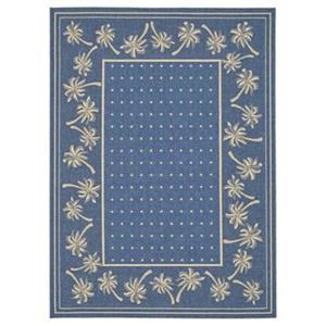 Courtyard Indoor/Outdoor Area Rug, Blue