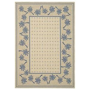Safavieh Courtyard 11 ft x8 ft Blue and Cream Indoor/Outdoor Area Rug