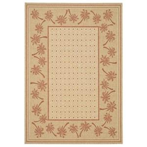 Courtyard Indoor/Outdoor Area Rug, Ivory