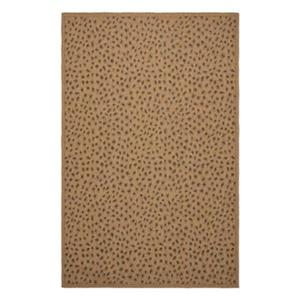 Safavieh Courtyard 11 ft x8 ft Natural and Gold Area Rug