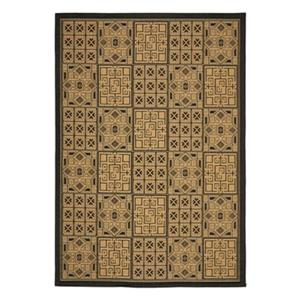 Courtyard Indoor/Outdoor Area Rug, Black