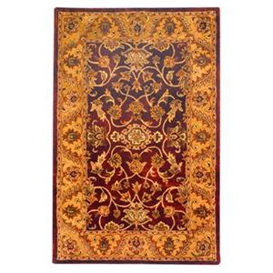 Golden Jaipur Area Rug, Burgundy