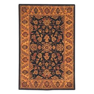 Golden Jaipur Area Rug, Black