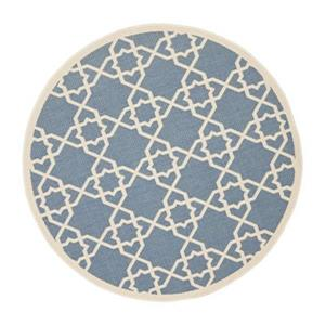 Safavieh Courtyard 134-in x 96-in Blue Indoor/Outdoor Area Rug