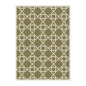 Courtyard Indoor/Outdoor Area Rug, Green/Beige