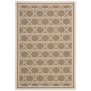 Safavieh Courtyard 134-in x 96-in Cream/Beige Indoor/Outdoor Area Rug