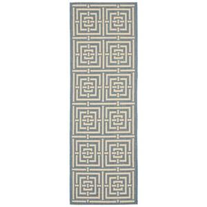 Courtyard Area Rug, Blue/Bone