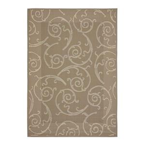 Courtyard Indoor/Outdoor Area Rug, DarkBeige