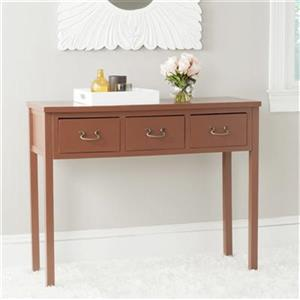 Safavieh Cindy 3-Drawer Rectangular Terracotta Console Table