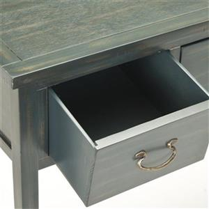 Safavieh Cindy 3-Drawer Rectangular Blue/Grey Console Table