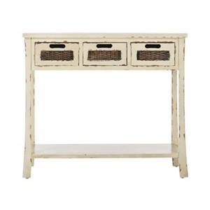 Safavieh Autumn 3-Drawer Rectangular Pine White Console Table