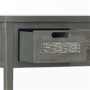 Safavieh Autumn 3-Drawer Rectangular Pine French Grey Console Table