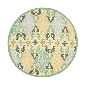 Chelsea Green and Yellow Area Rug