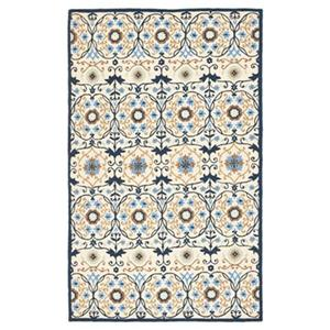 Chelsea Ivory and Navy Area Rug