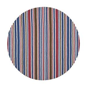 Kids Red and Blue Striped Area Rug
