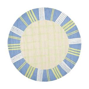 Kids Taupe and Blue Area Rug