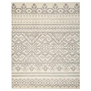 Adirondack Ivory and Silver Area Rug