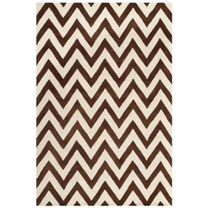 Cambridge Area Rug, Dark Brown / Ivory
