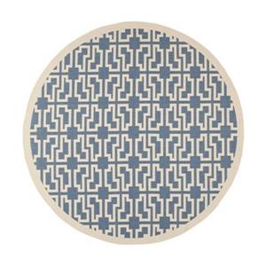 Safavieh Courtyard 11 ft x 8 ft  Blue and Beige Area Rug