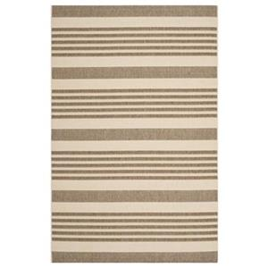 Safavieh Courtyard 11 ft x 8 ft   Brown and Bone Area Rug